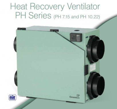 Greentek Heat Recovery Ventilators PH Series