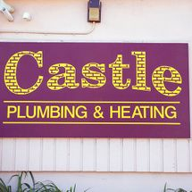 Castle Plumbing & Heating shop sign